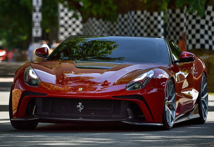 2014 Ferrari F12 TRS; top car design rating and specifications